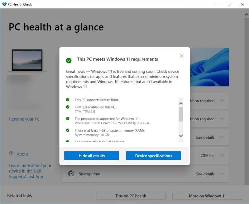Windows PC Health Check App